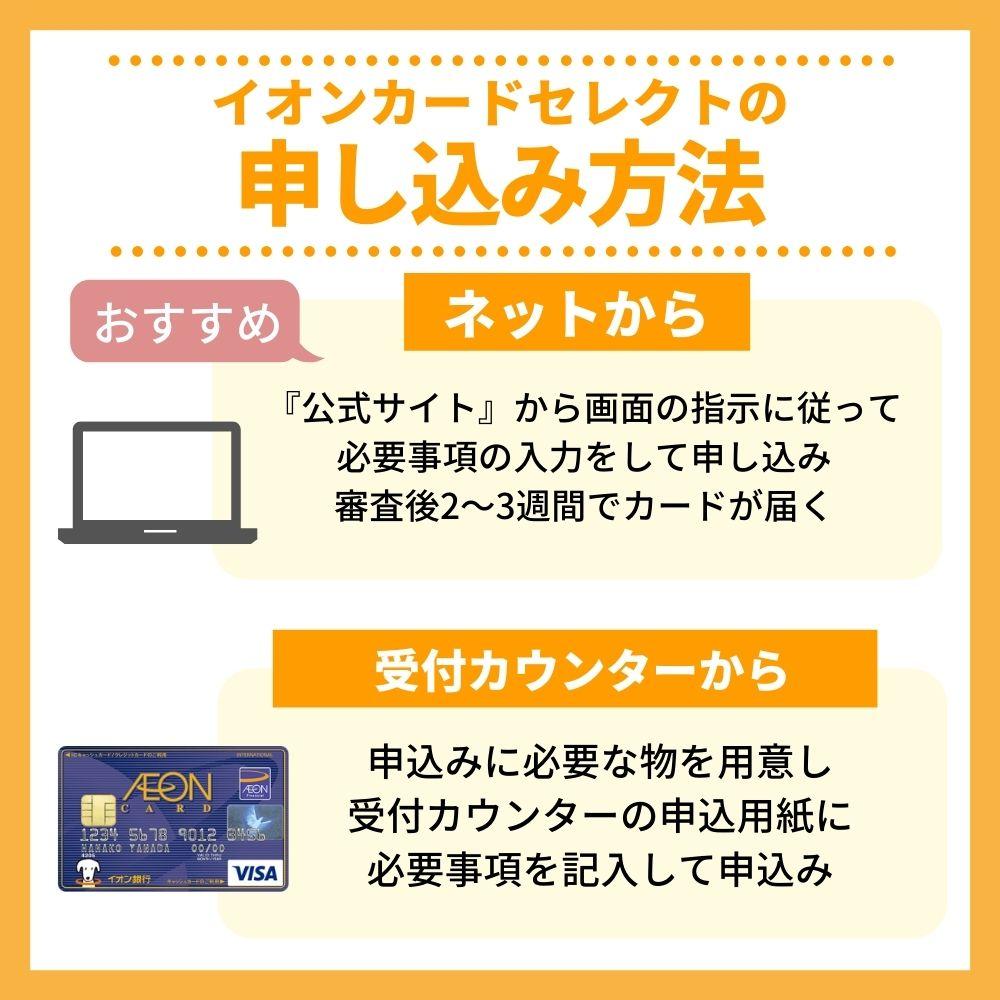 イオンカードセレクトの申込み方法