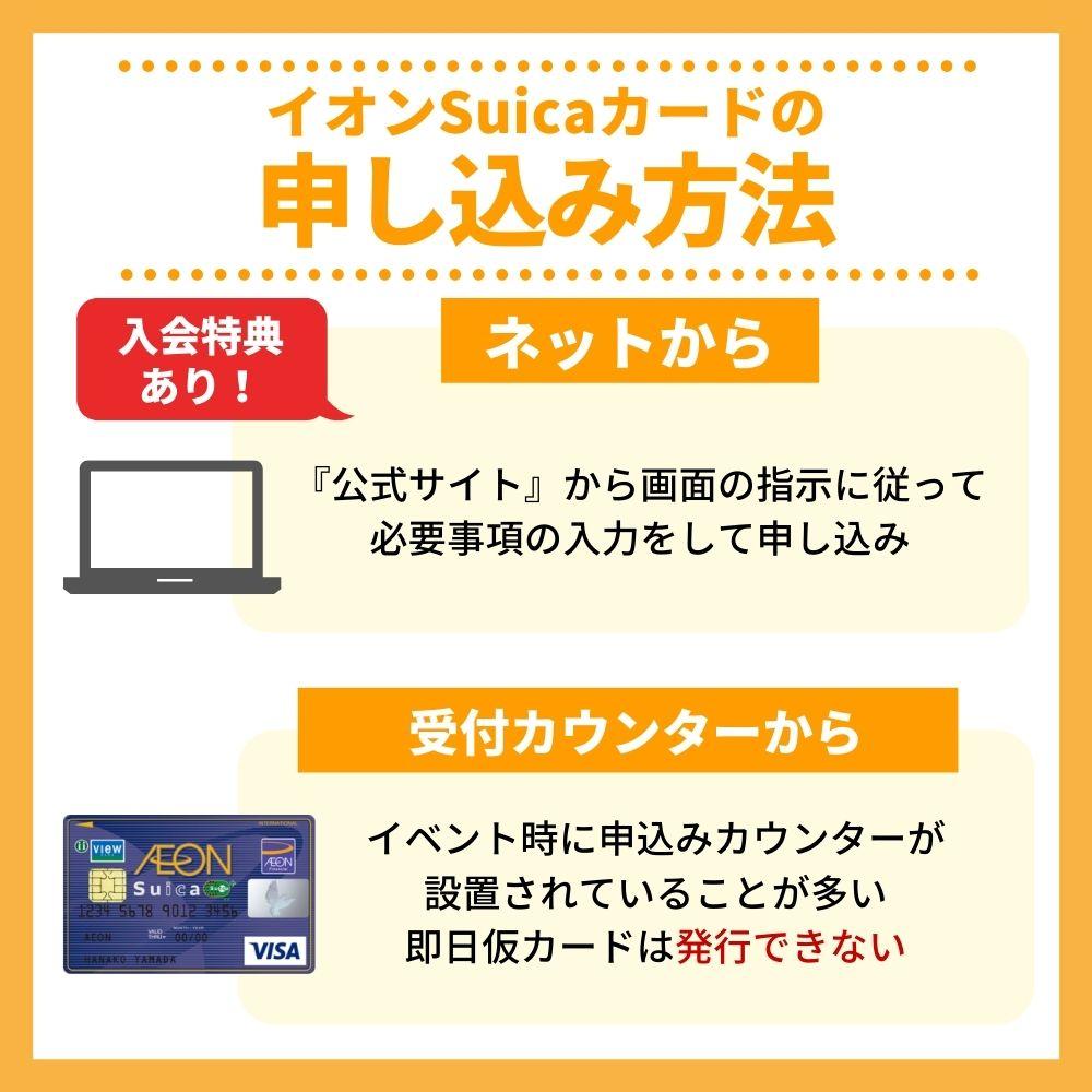 イオンSuicaカードの申込み方法