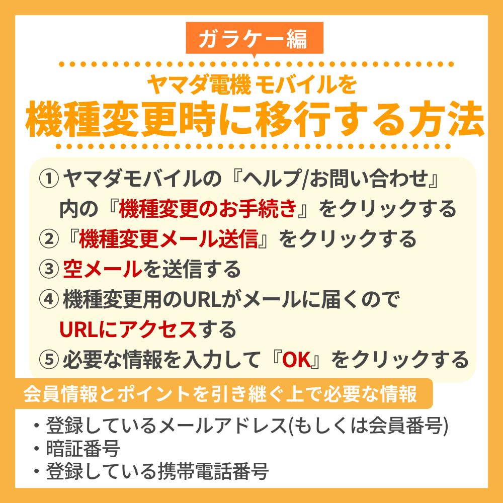 【ガラケー編】ヤマダ電機 モバイルを機種変更時に移行する方法