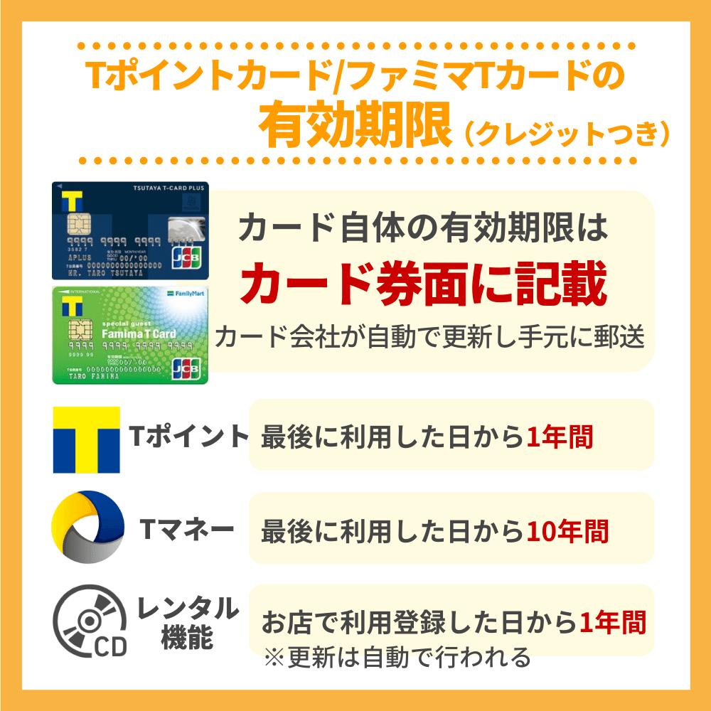 クレジットカードのTカード・ファミマTカードの有効期限
