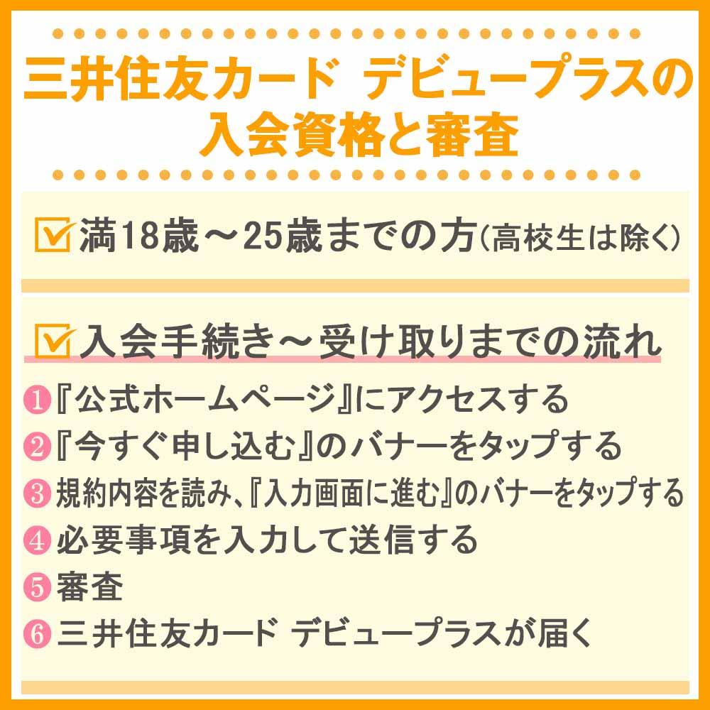 三井住友カード デビュープラスの入会資格と審査