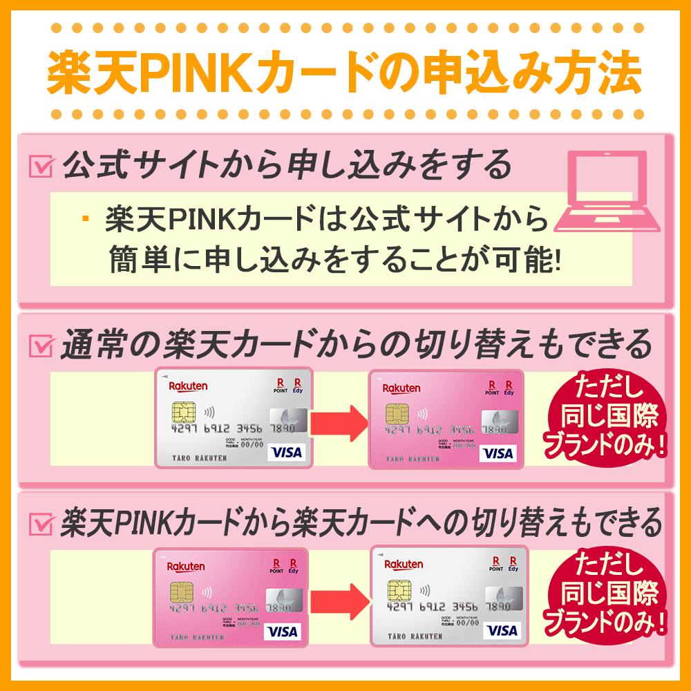 楽天PINKカードの申込み方法
