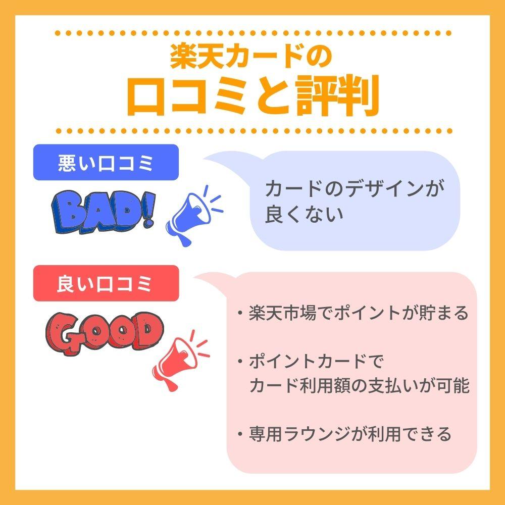 楽天カードの口コミ/評判