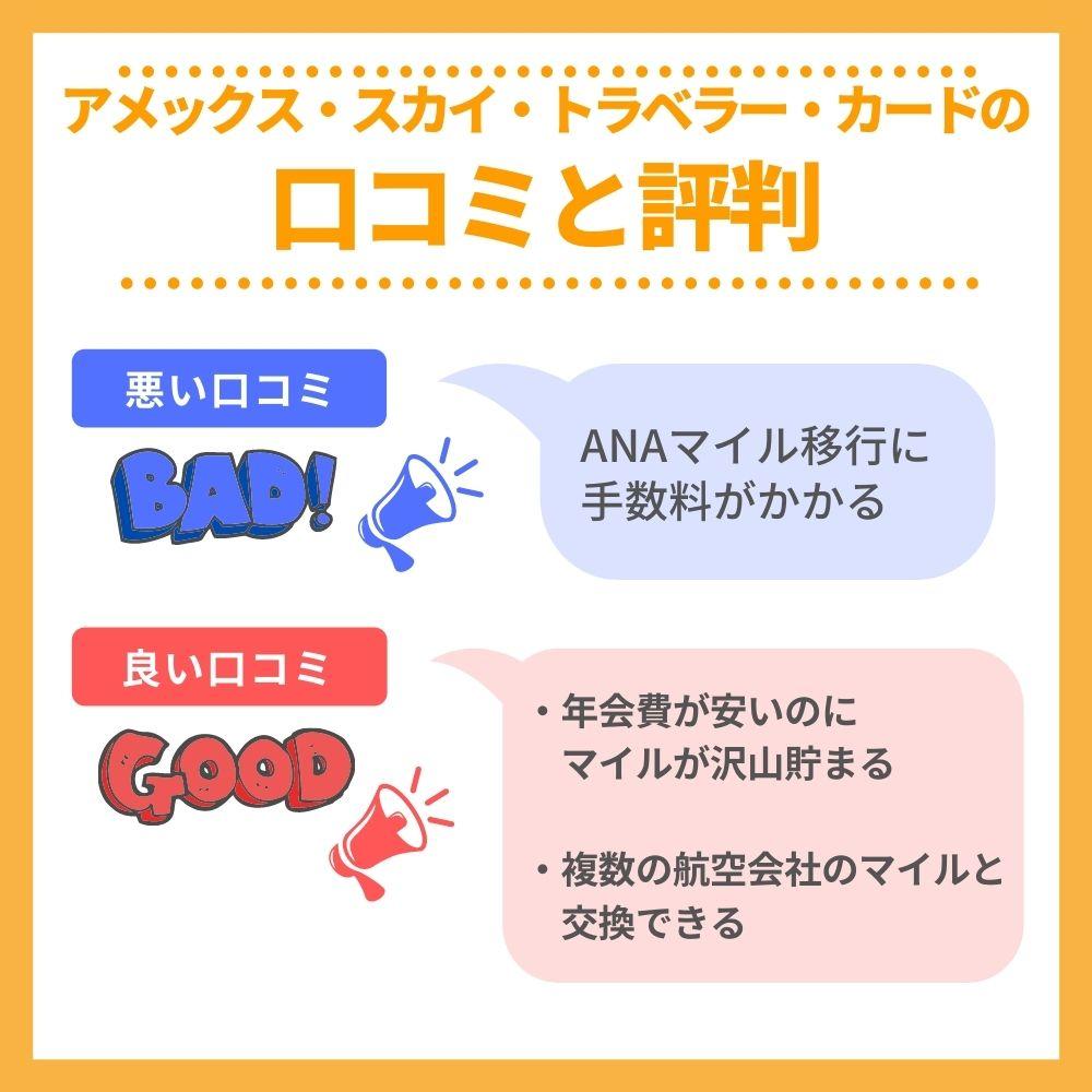 アメックス・スカイ・トラベラー・カードの口コミ/評判