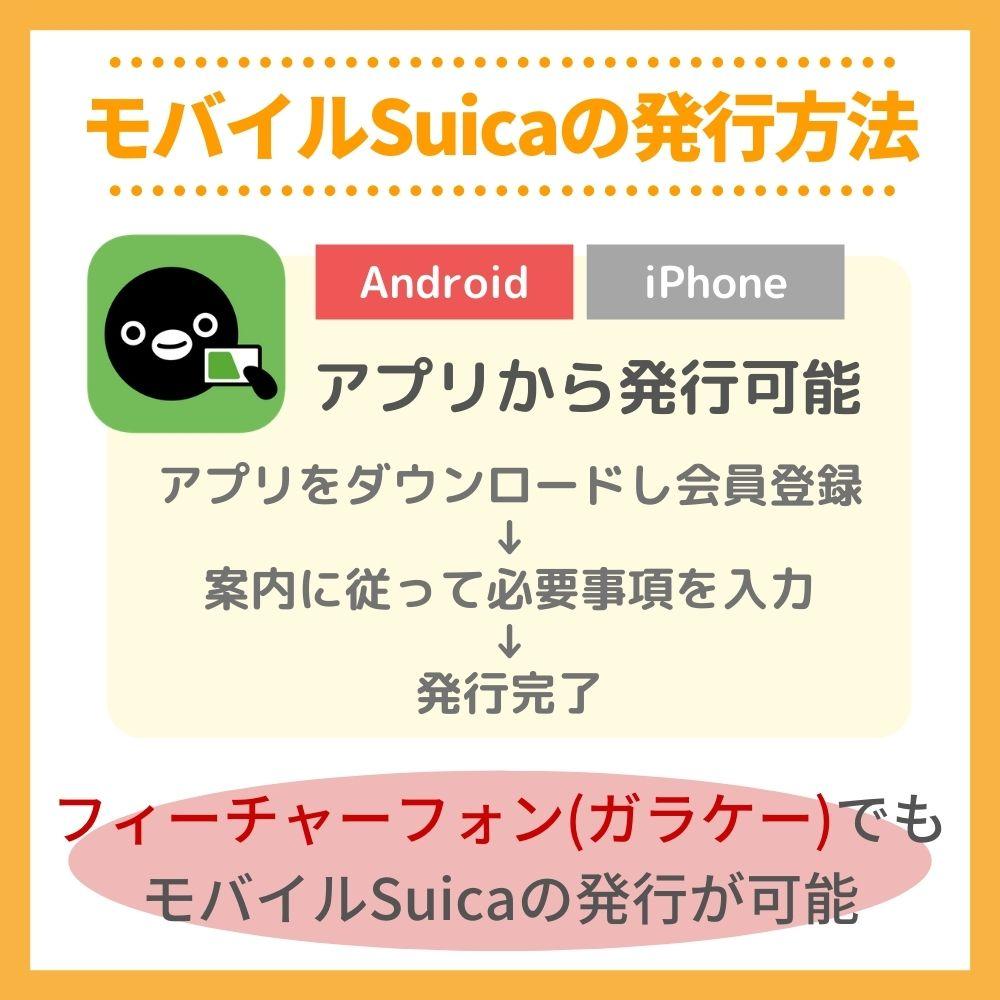 モバイルSuicaの発行方法・作り方