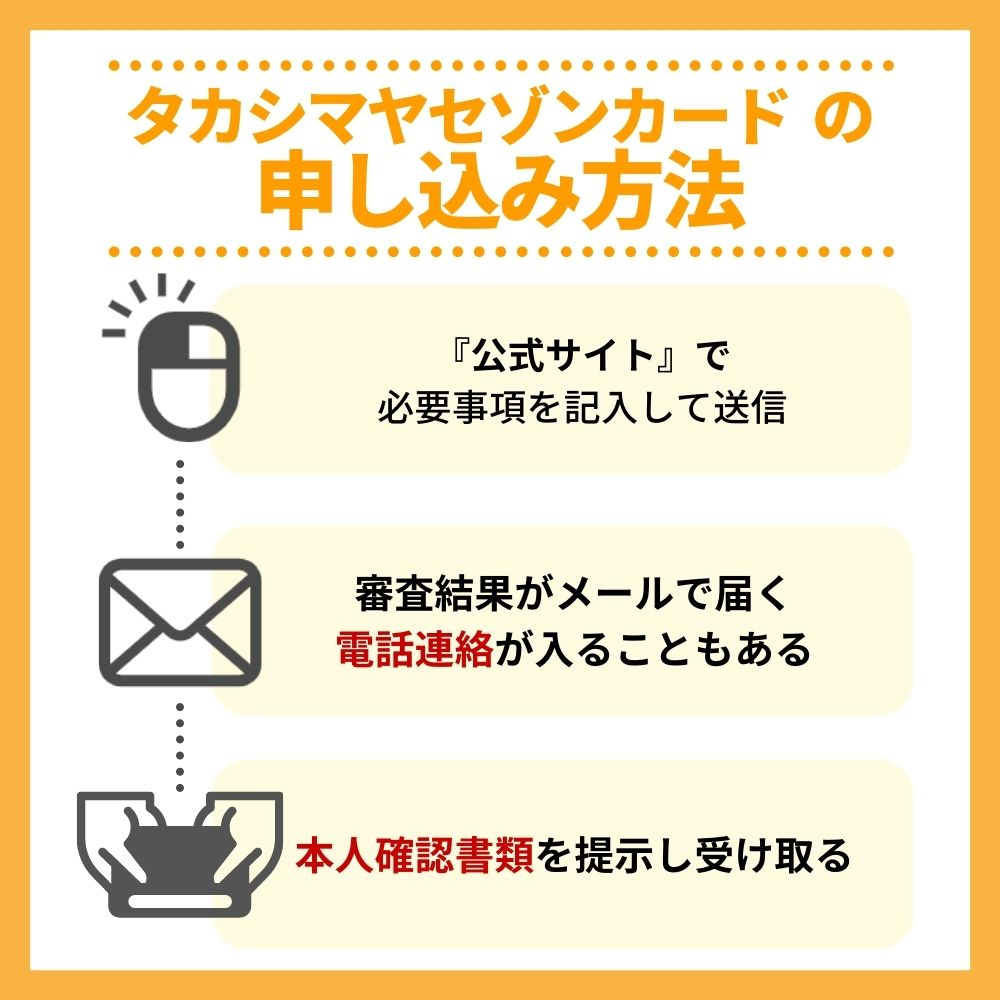 タカシマヤセゾンカードの申込み方法