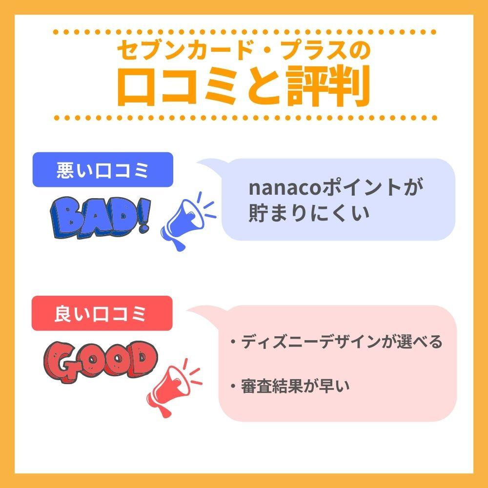 セブンカード・プラスの口コミ/評判