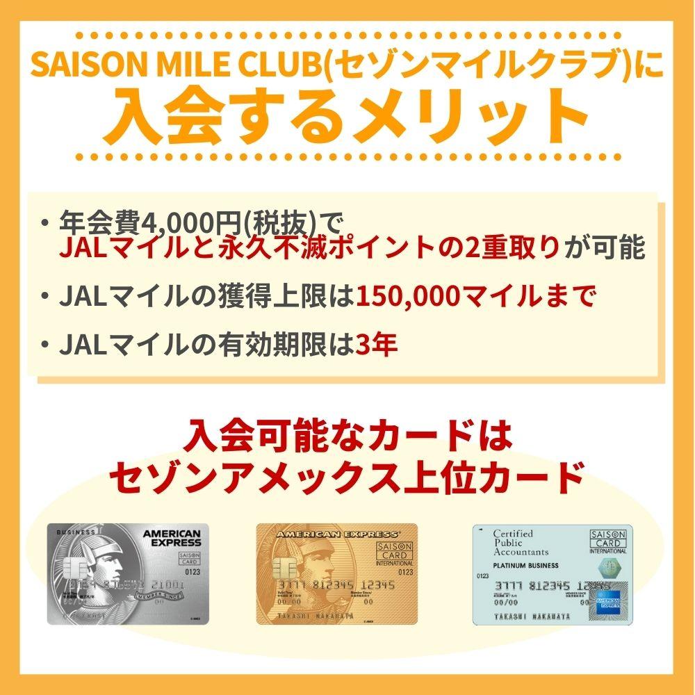 SAISON MILE CLUB(セゾンマイルクラブ)に入るべきお得な内容