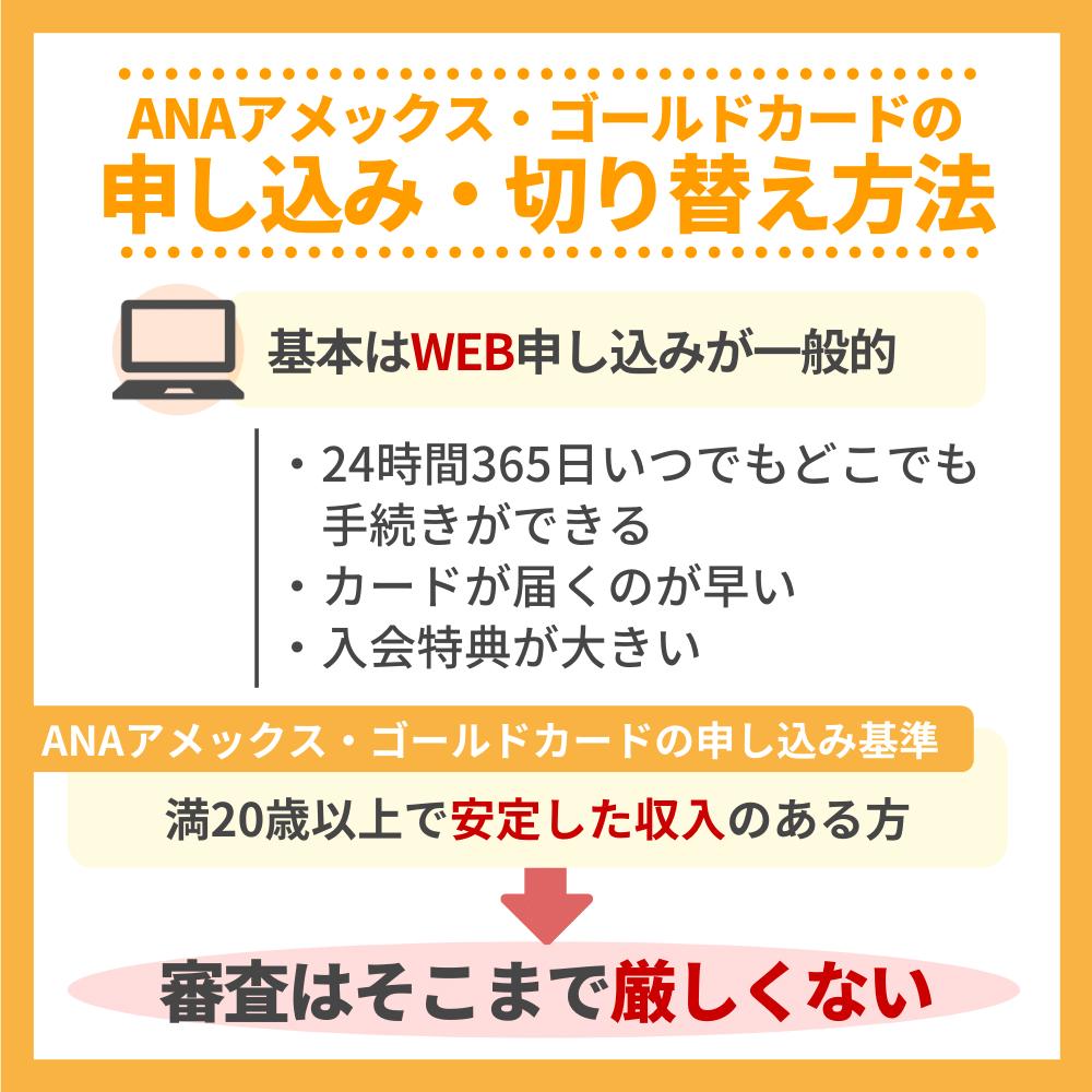 ANAアメックス・ゴールドカードの申し込み・切替方法