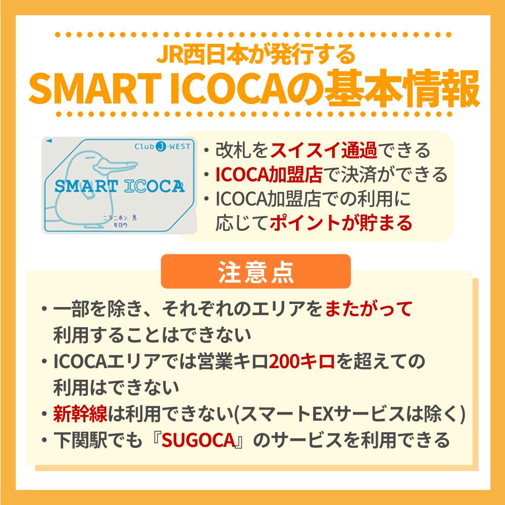 JR西日本が発行するSMART ICOCAの基本情報
