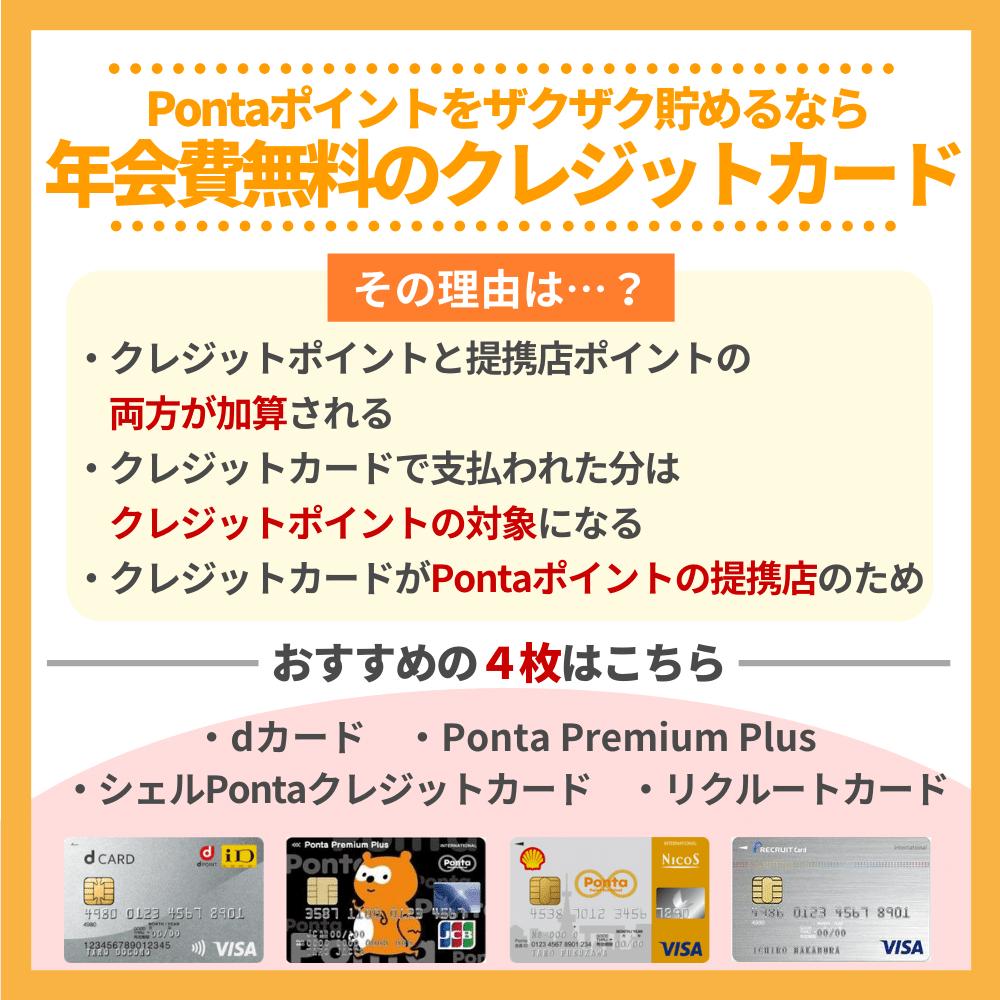 Pontaポイントをザクザク貯めるなら年会費無料のクレジットカードを活用!