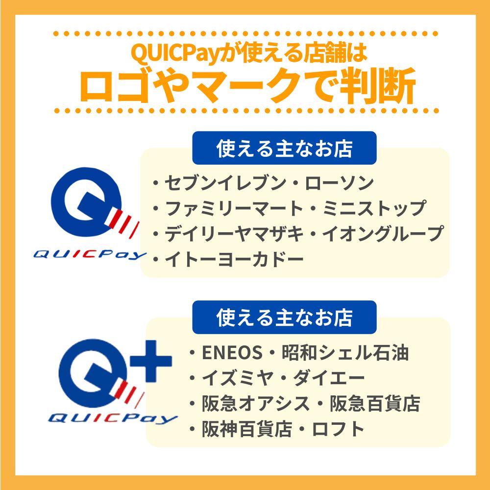 QUICPayが使える店舗はロゴやマークで判断!