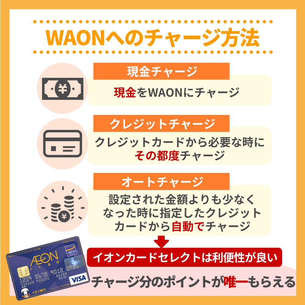 WAONにチャージできるカードの種類
