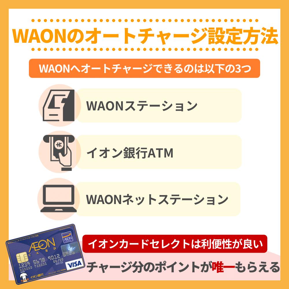 WAONのオートチャージ設定方法