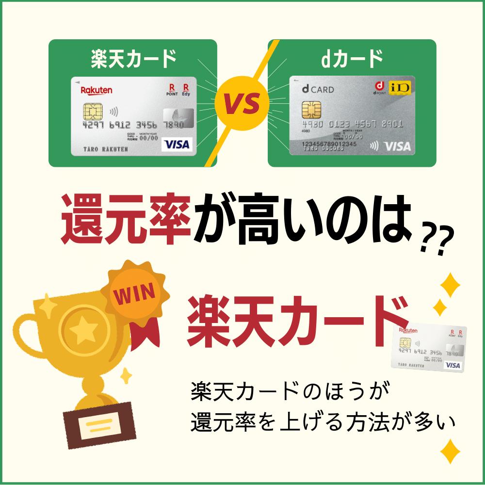 楽天カードとdカードの還元率の比較