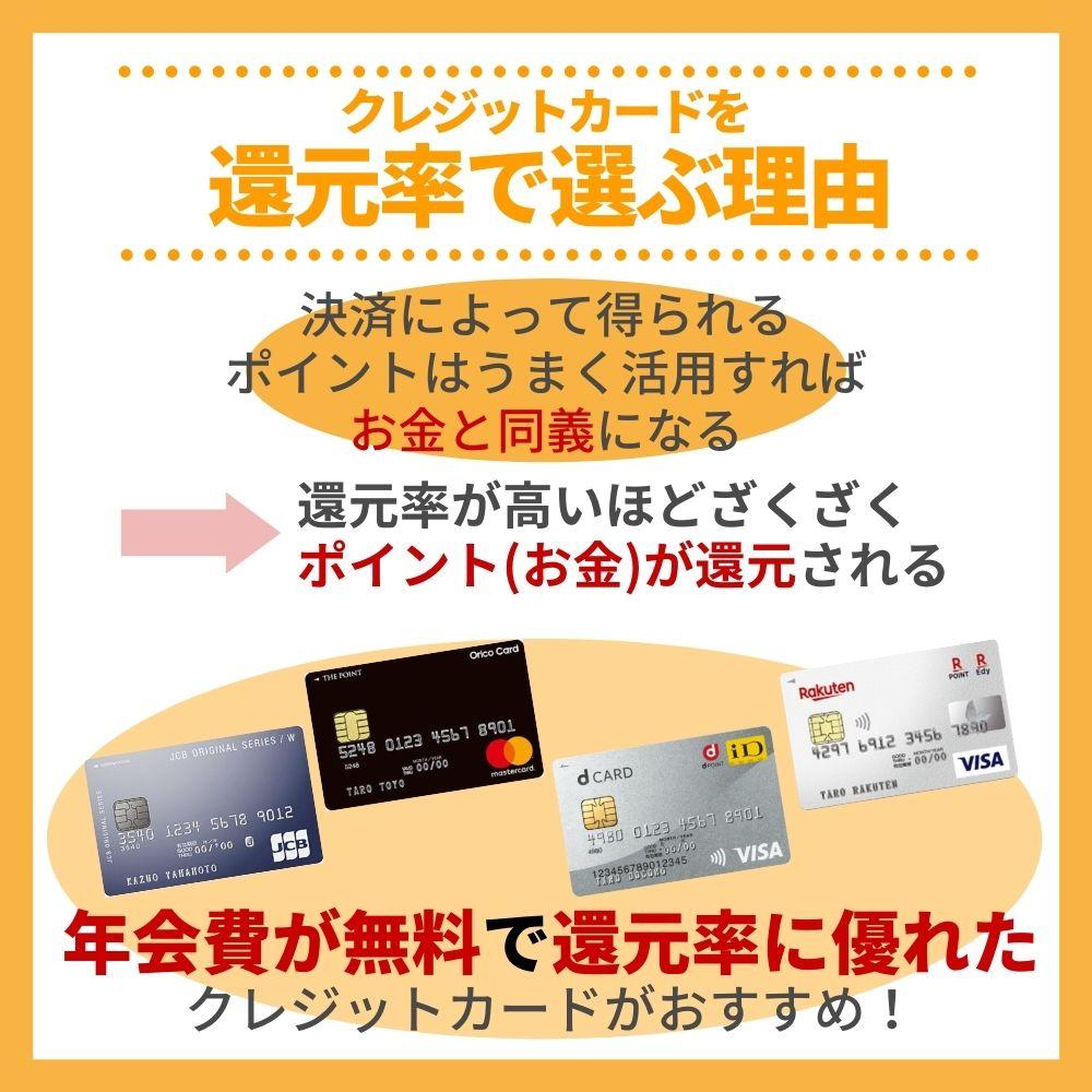 クレジットカードを還元率で選ぶ理由