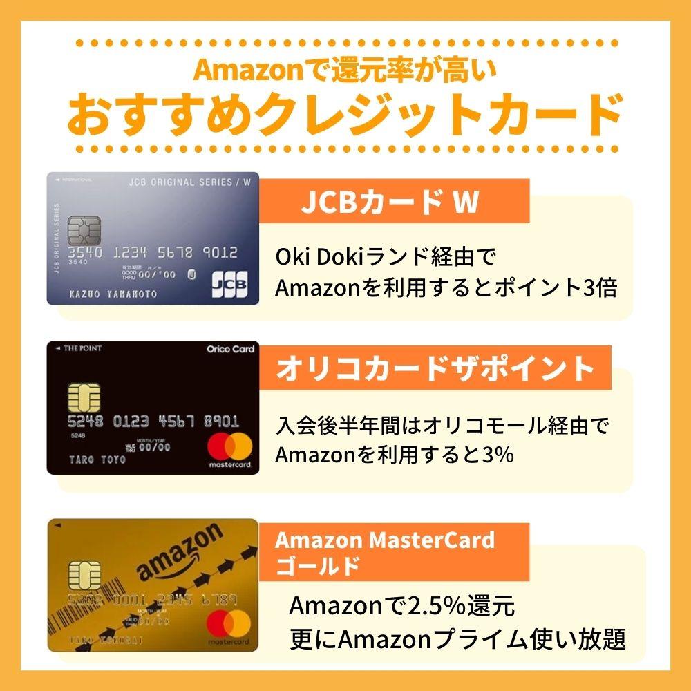 Amazonで還元率の高いおすすめクレジットカード