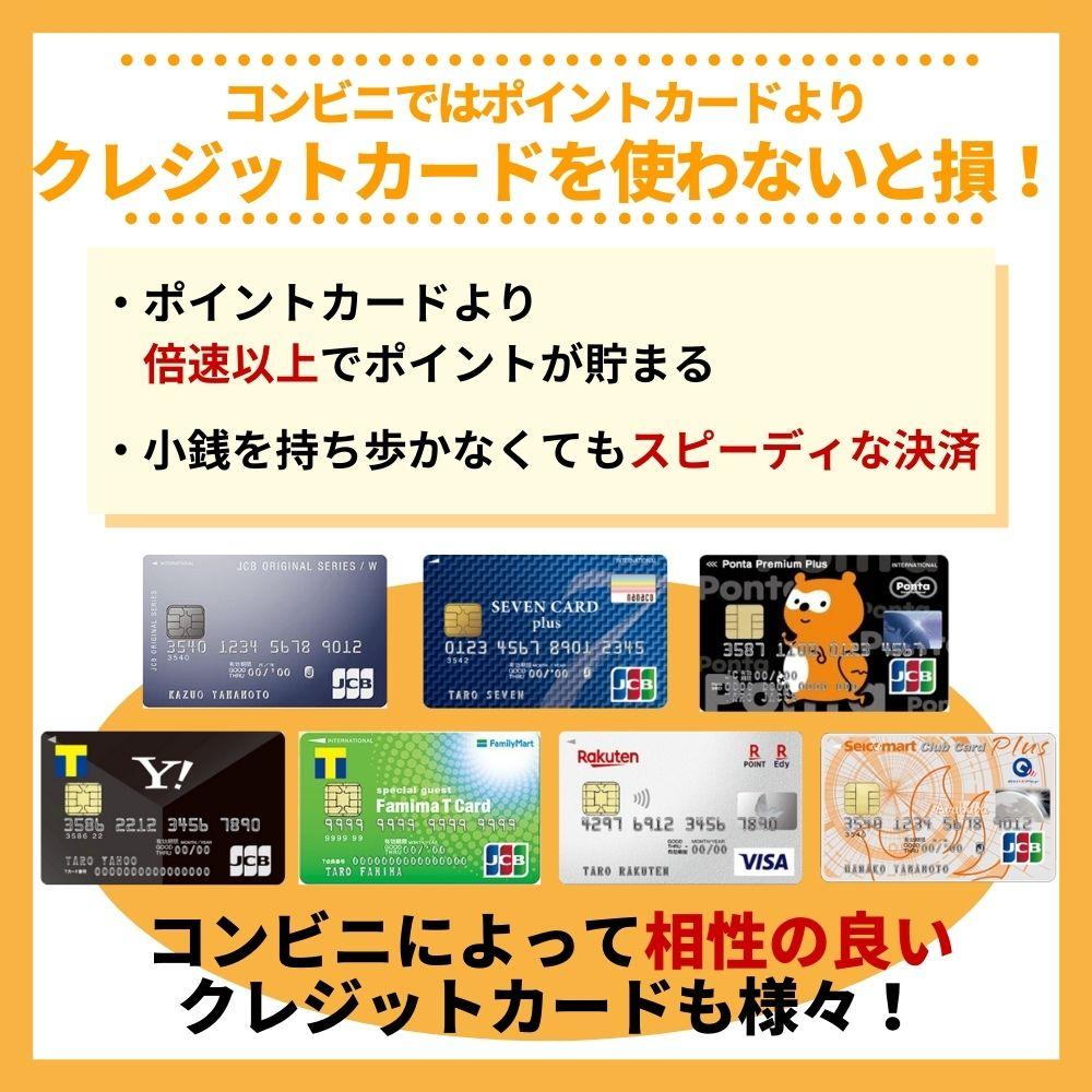 コンビニではポイントカードよりもクレジットカードを使いこなすべし!