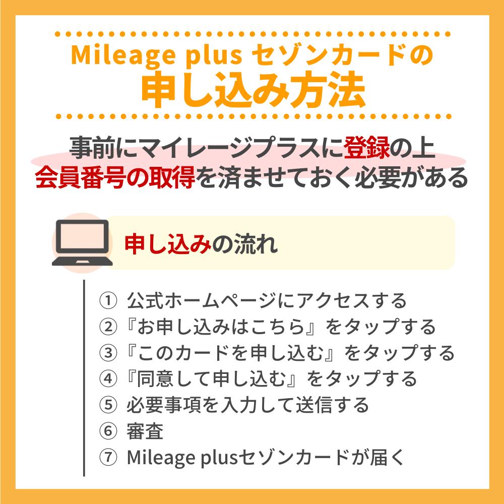 Mileage plus セゾンカードの申込方法|今なら入会キャンペーン付き!