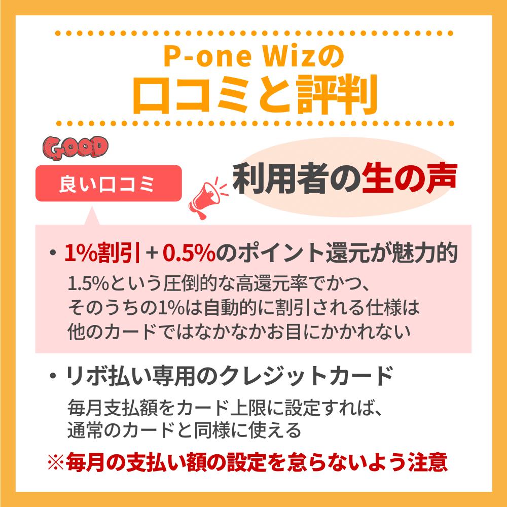 P-one Wizの口コミ