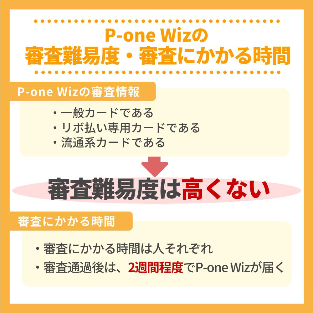P-one Wizの審査難易度と審査にかかる時間