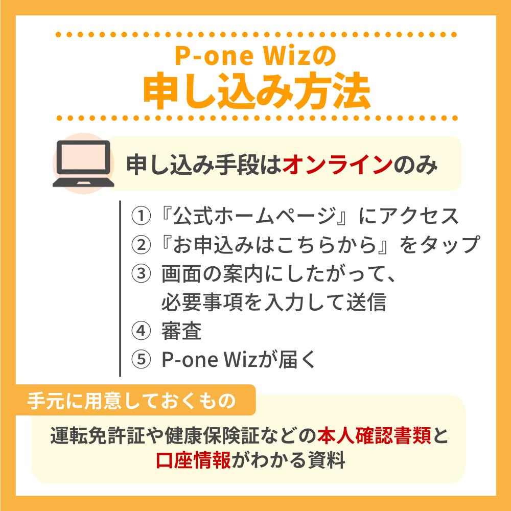 P-one Wizの申込方法