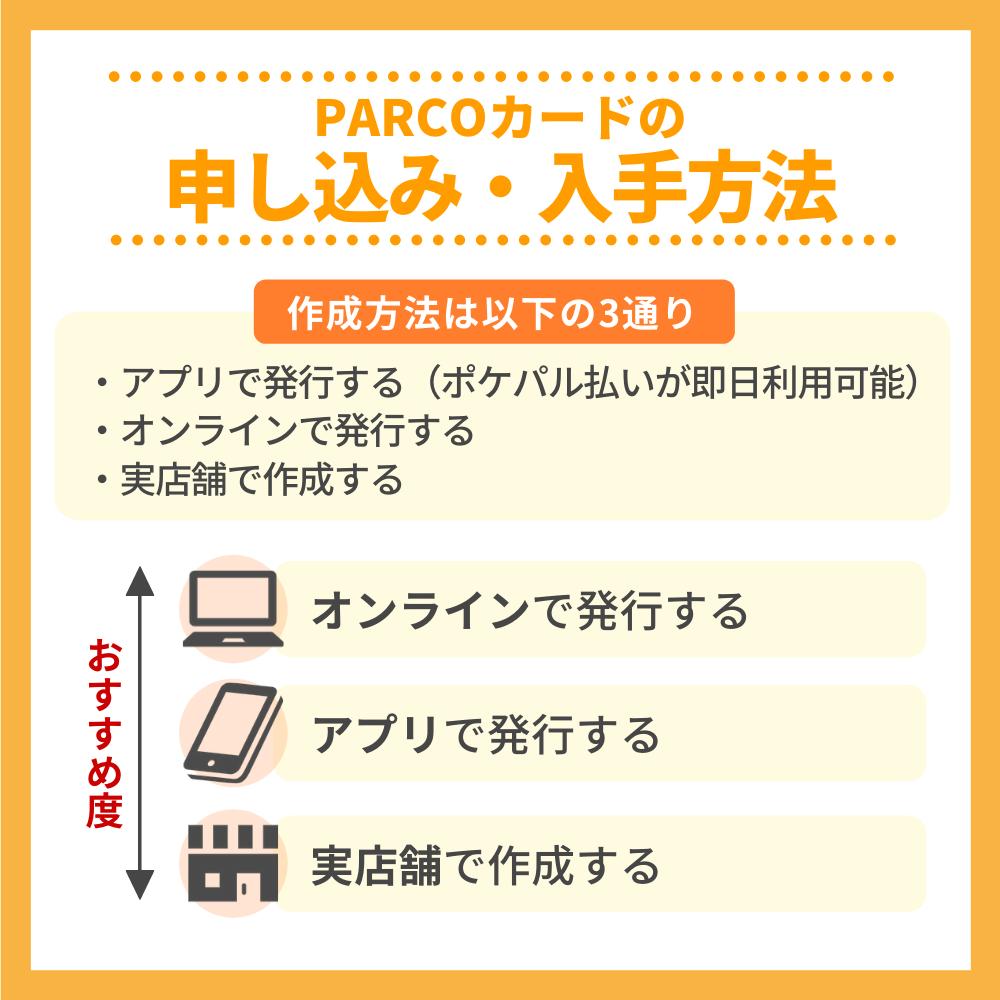 PARCOカードの申込方法|現在は即日発行不可に!