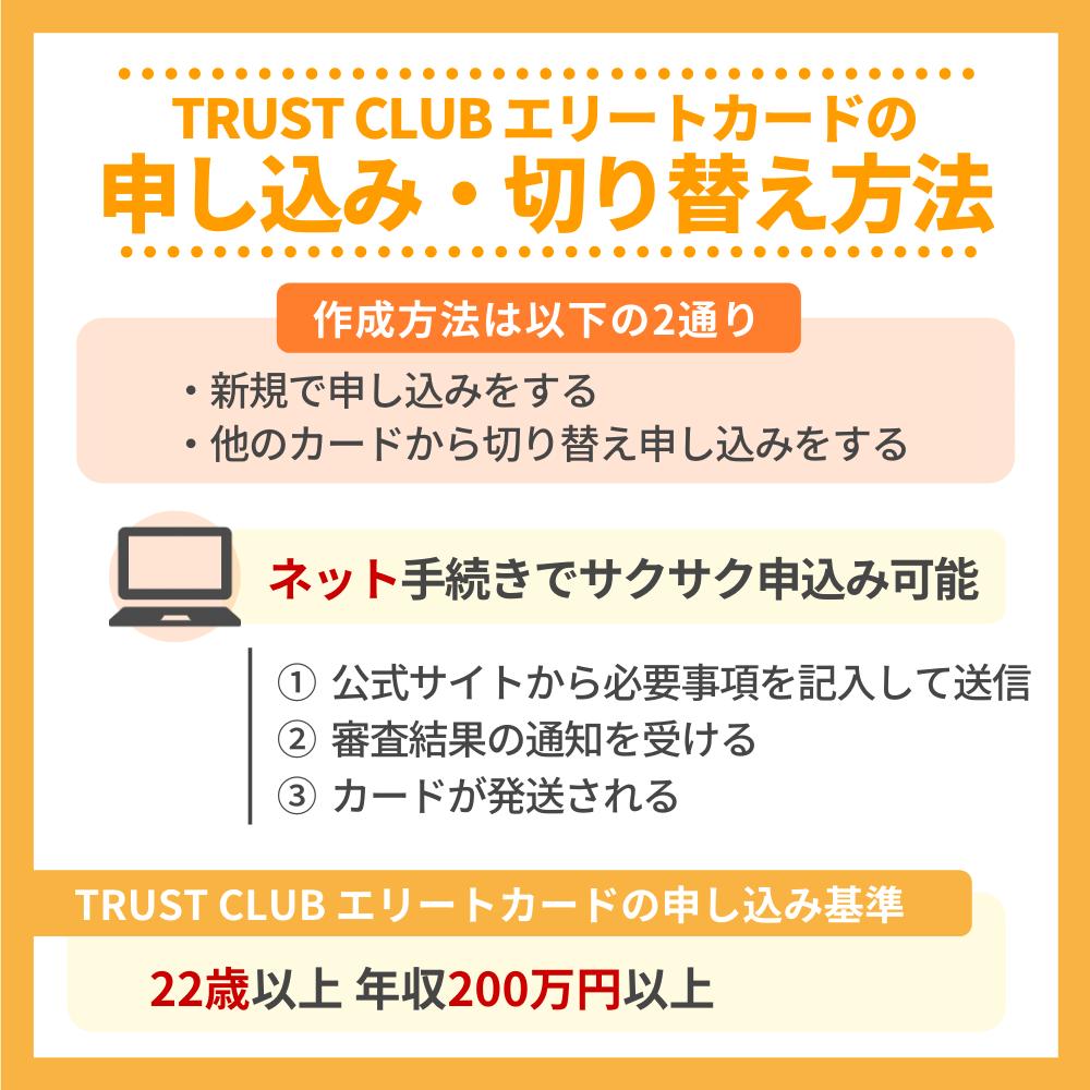 TRUST CLUB エリートカードの申し込み・切り替え方法