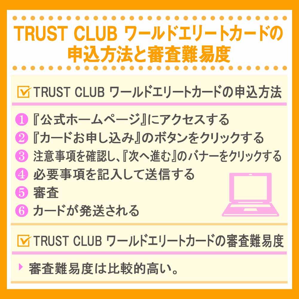 TRUST CLUB ワールドエリートカードの申込方法と審査難易度