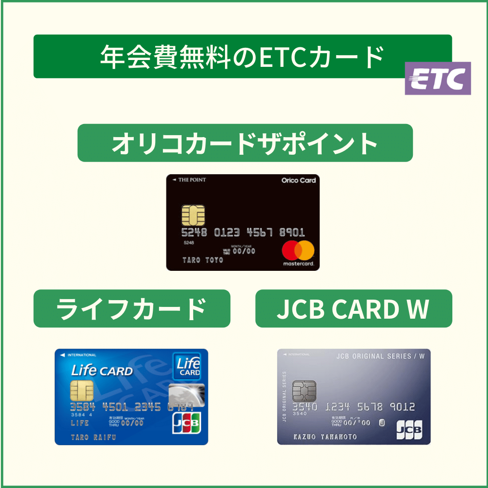 クレジットカードなら年会費無料のETCカードを持とう!