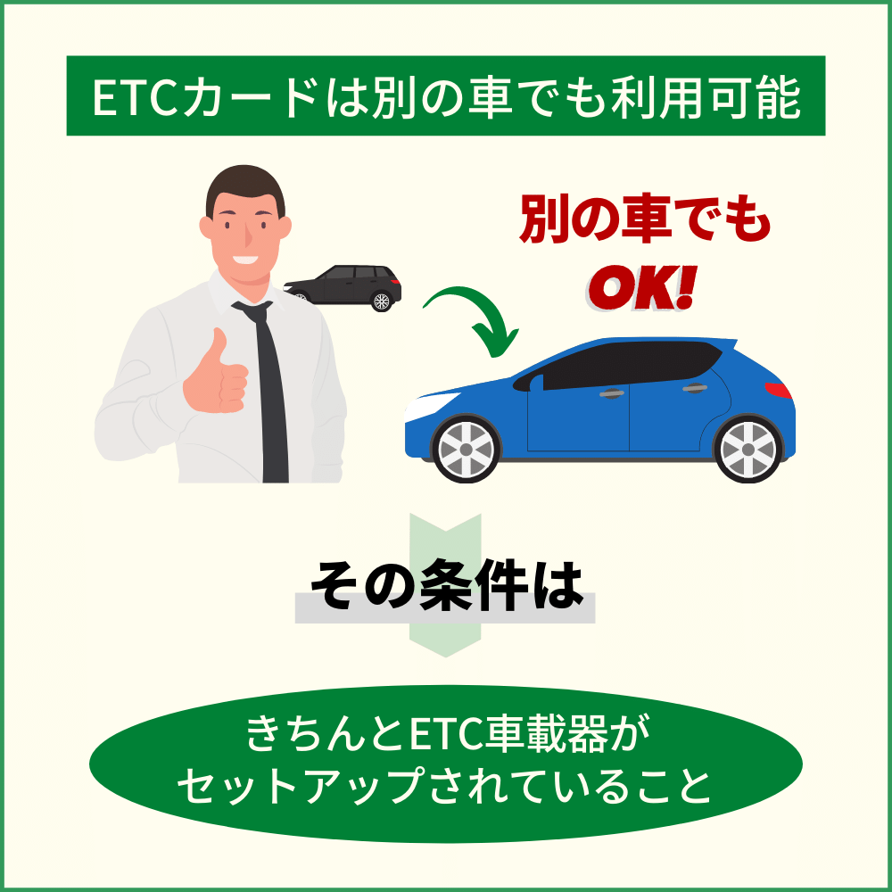 ETCカードを別の車で利用する方法