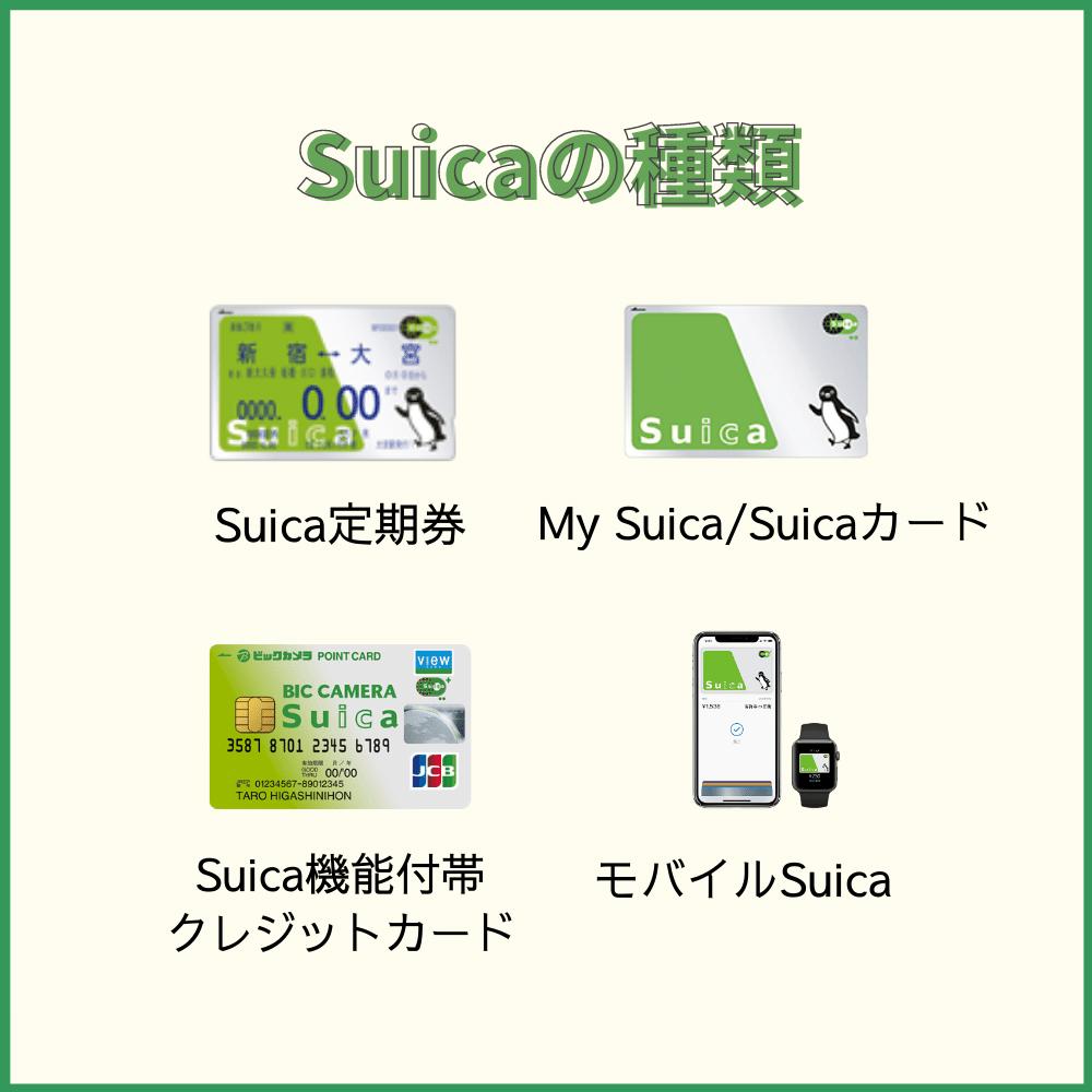 作る前に知っておきたいSuicaの種類