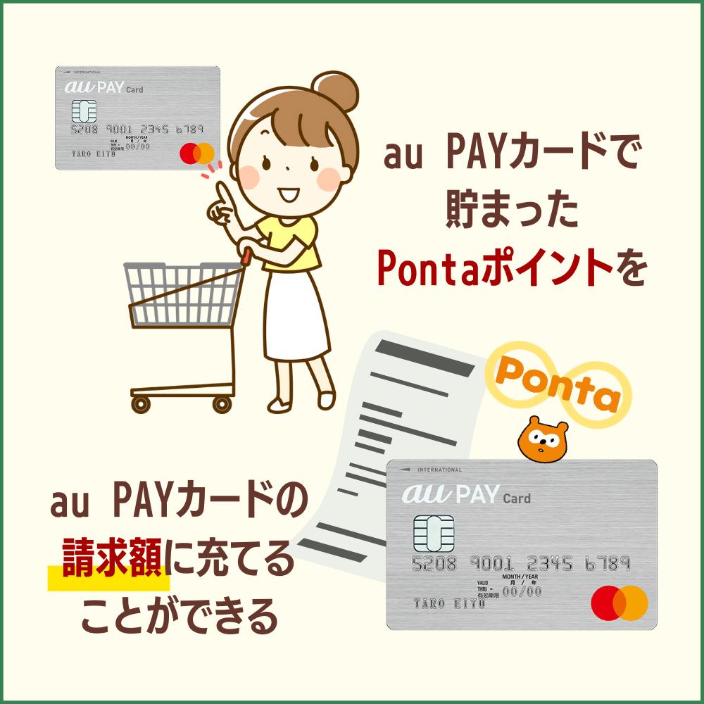 au PAYカードの支払いに使う