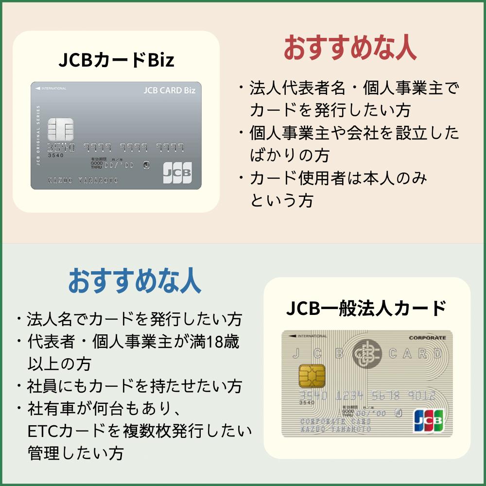 JCBカードBizと通常のJCB一般法人カードの違いを比較|どちらのビジネスカードがおすすめ?!